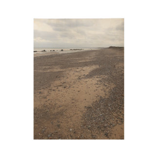 Ainsdale Beach in Southport Wood Poster