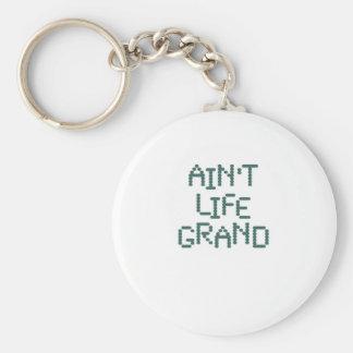 Ain't Life Grand (ocean techno) Key Chains