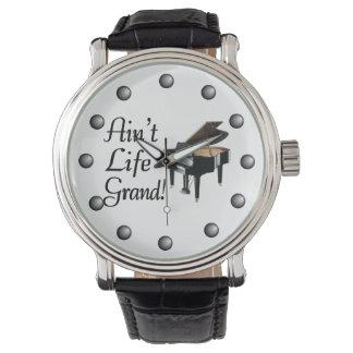 Ain't Life Grand Piano Wristwatch