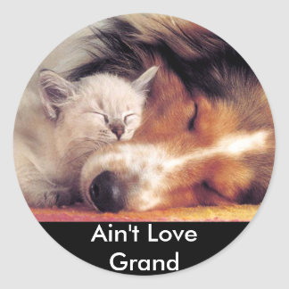 Ain't Love Grand Round Sticker