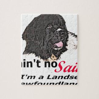 Ain't No Saint... I'm a Landseer (Newfoundland) Jigsaw Puzzle