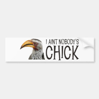 Aint Nobody's Chick - Funny, angry feminist bird Bumper Sticker