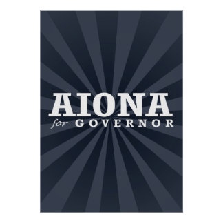 AIONA FOR GOVERNOR 2014 POSTER