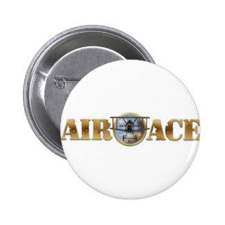 Air Ace Logo 6 Cm Round Badge