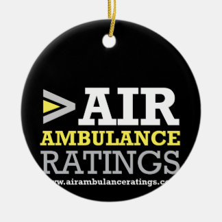 Air Ambulance and Medical Flight Company Ratings Round Ceramic Decoration