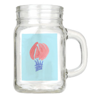 Air Balloon 12 oz Mason Jar with Handle