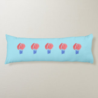 Air Balloon Brushed Polyester Body Pillow