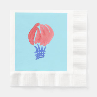 Air Balloon Coined Luncheon Paper Napkins