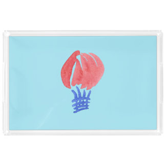 Air Balloon Extra-Large Rectangle Serving Tray