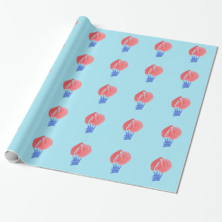 Air Balloon Glossy Wrapping Paper 30'' x 6'