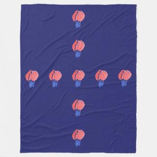 Air Balloon Large Fleece Blanket
