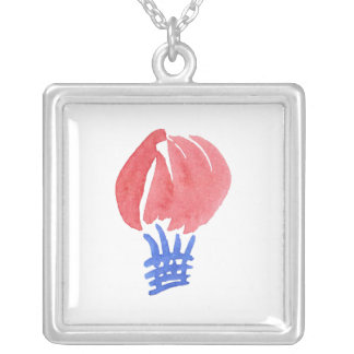 Air Balloon Large Square Necklace