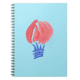 Air Balloon Spiral Notebook