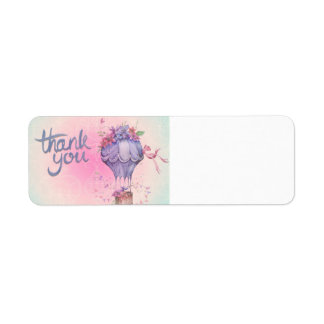 AIR BALLOON THANK YOU SOFT NEUTRALS EXPRESSIONS MA RETURN ADDRESS LABEL