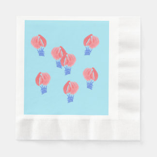 Air Balloons Coined Luncheon Paper Napkins