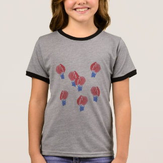 Air Balloons Girls' Ringer T-Shirt