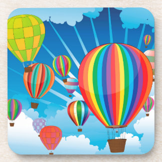 Air Balloons in the Sky 3 Beverage Coaster