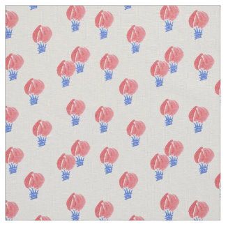 Air Balloons Ivory Linen Fabric