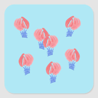 Air Balloons Large Glossy Square Sticker