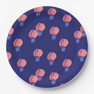 Air Balloons Large Paper Plate