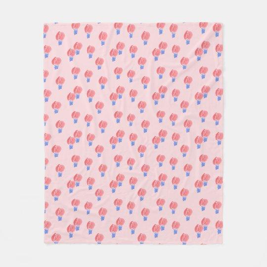 Air Balloons Medium Fleece Blanket