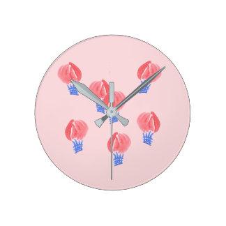 Air Balloons Medium Round Wall Clock