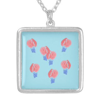 Air Balloons Medium Square Necklace