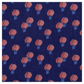 Air Balloons Natural Linen Fabric