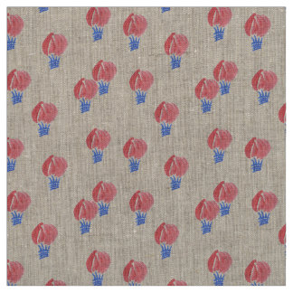 Air Balloons Natural Linen Fabric