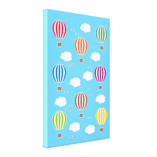 Air Balloons Pattern Canvas Print