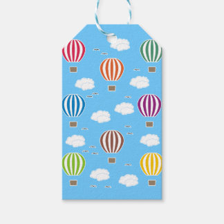 Air Balloons Pattern Gift Tags