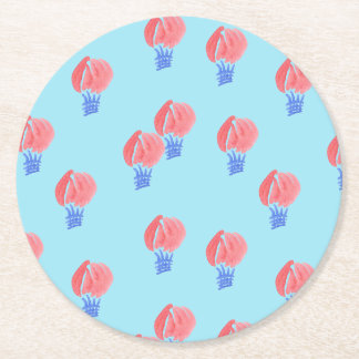 Air Balloons Round Paper Coaster