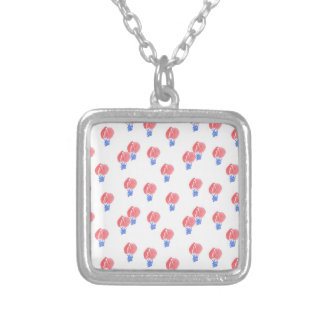 Air Balloons Small Square Necklace