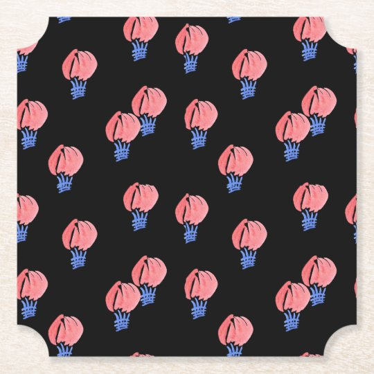Air Balloons Ticket Paper Coaster