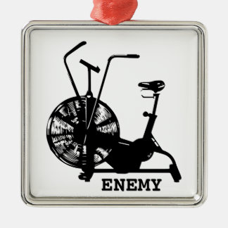 Air Bike Enemy - Black Silhouette Metal Ornament