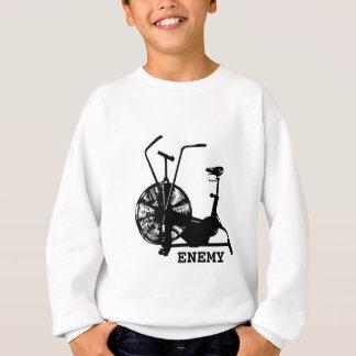 Air Bike Enemy - Black Silhouette Sweatshirt