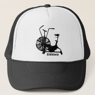 Air Bike Enemy - Black Silhouette Trucker Hat