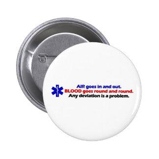 Air/Blood 6 Cm Round Badge