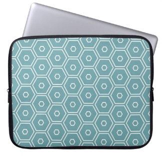 Air Blue Hexagons Laptop Computer Sleeves