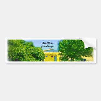 Air Brushed Painted Chicago Lake Shores Bumper Sticker