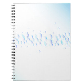 Air Bubbles On Water Spiral Notebook