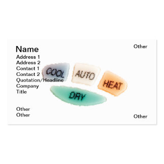 Air condition options business cards