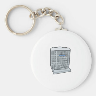 Air Conditioner Unit Ice Cold AC Heat Pump Key Ring