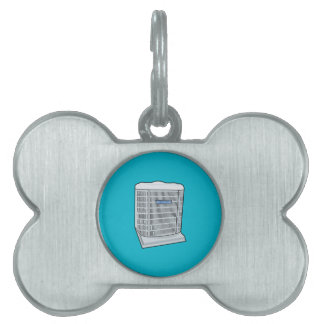 Air Conditioner Unit Ice Cold AC Heat Pump Pet Tag