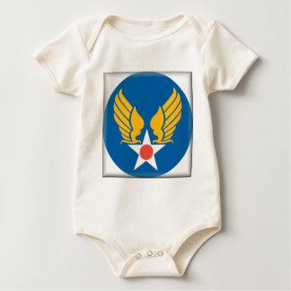 Air Corps Military Emblem Baby Bodysuit