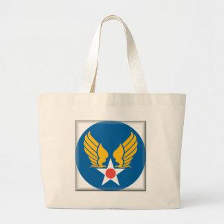 Air Corps Military Emblem Tote Bags