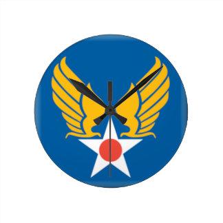 Air Corps Military Emblem Wall Clock