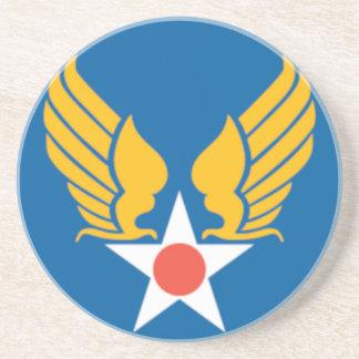Air Corps Military Emblem Beverage Coaster