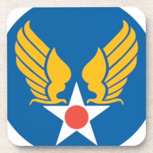 Air Corps Military Emblem Coasters