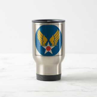 Air Corps Military Emblem Stainless Steel Travel Mug